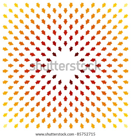 An image of a red yellow pointer background