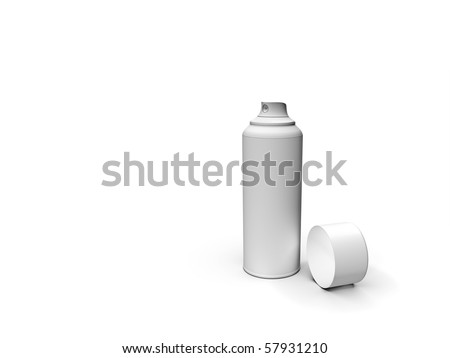 An image of a rendered white spray