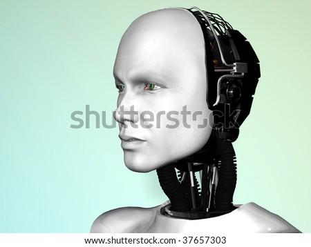An image of a robot man's head.