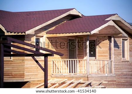 an image of a rustic wooden house