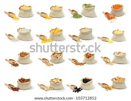 An image of a set of bags with food