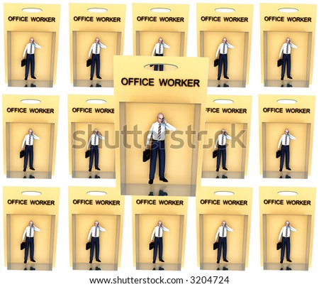 An image of a set of business man in toy form.