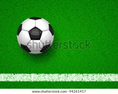 An image of a soccer ball on green grass background