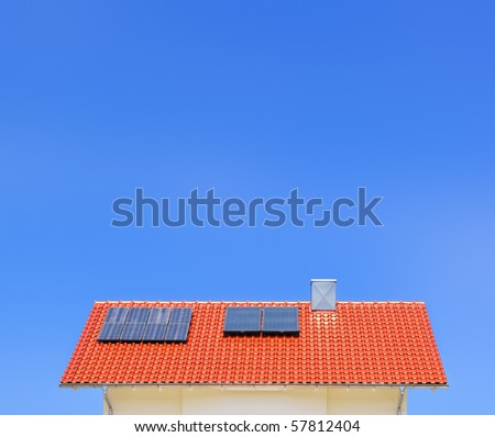 An image of a solar panel on the roof
