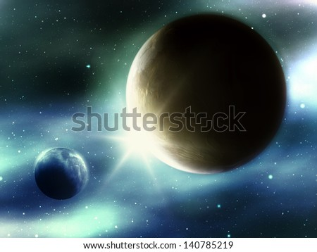An image of a strange planet in space