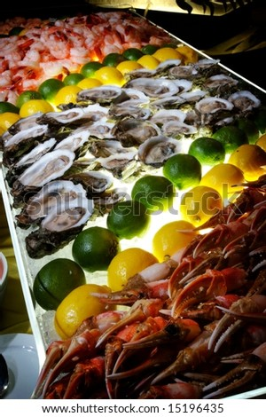 An image of a succulent fresh seafood buffet