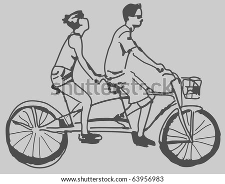 An image of a tandem bike.