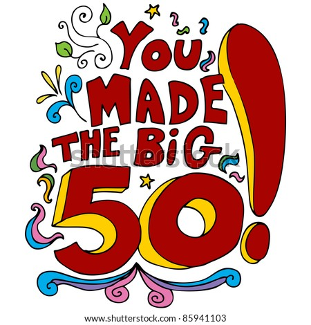 An image of a 50th happy birthday message.