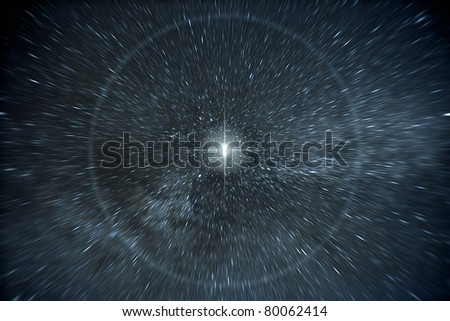 Stock Photo An image of a time warp stars background
