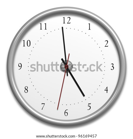 An image of a typical clock isolated on white
