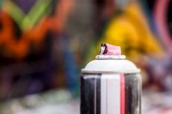 An image of a used graffiti spray