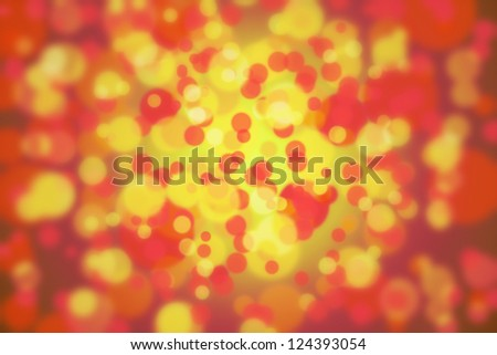 An image of abstract rounded bokeh background