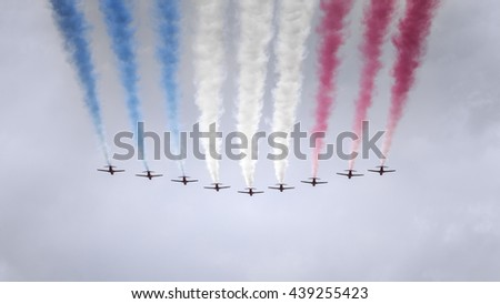 An image of an air show at London in June