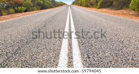 An image of an Australian desert road