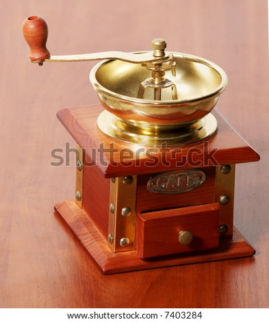An image of antique coffee mill