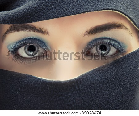 An image of arabian hidden face