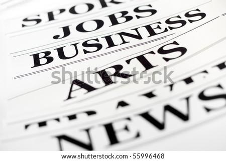 An image of black headlines of newspaper