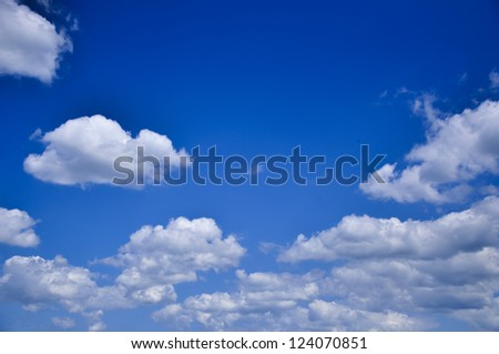An image of blue sky with clouds