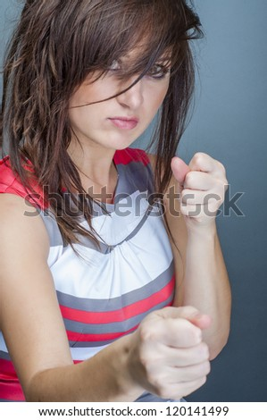 An image of boxing Woman