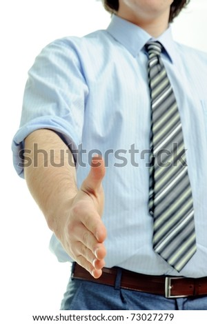 An image of businessman offering for handshake
