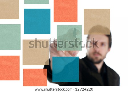 An image of businessman with pen and papers