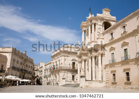 An image of Cathedral syracuse sicily italy