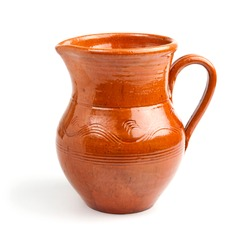 An image of ceramic jug on a white background