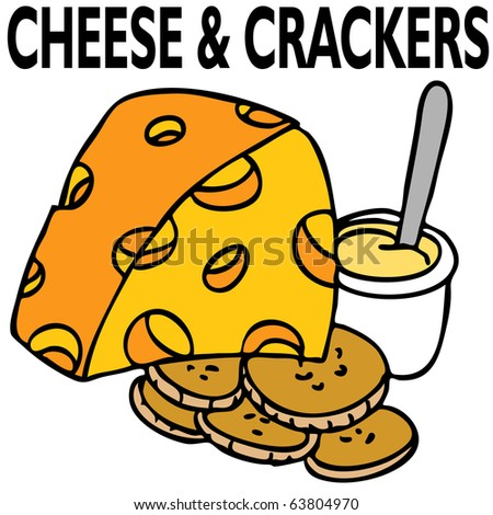 An image of cheese and crackers.