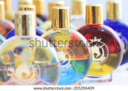 An Image of Color Bottle