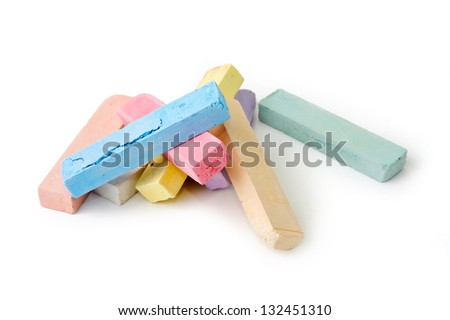 An image of colored crayons on white