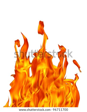 an image of fire flame in white