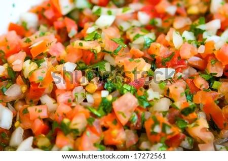 An image of fresh vibrant pico de gallo