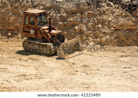 an image of grader at the construction zone #42223489