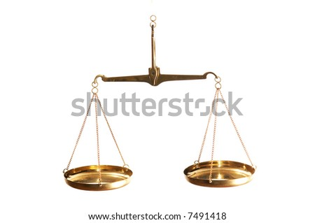 An image of Justice balance.