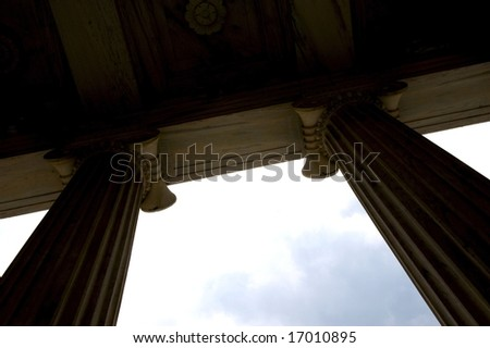 An image of majestic towering columns