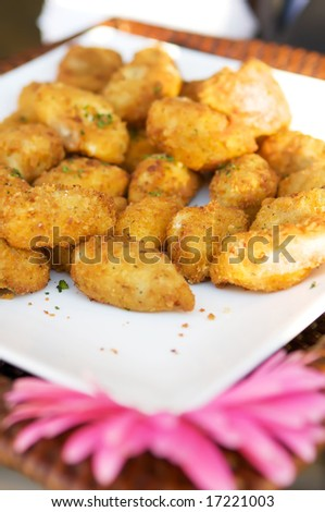 An image of miniature gourmet crab cakes