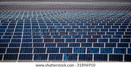 An Image Of Multiple Lineup Solar Panels