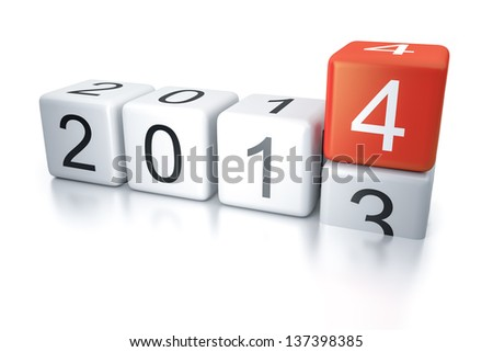 An image of new years eve dice 2014