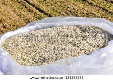 an image of nitrogenous fertilizer - stock photo
