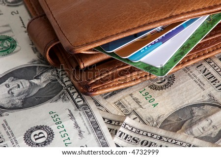 An image of purse with credit card