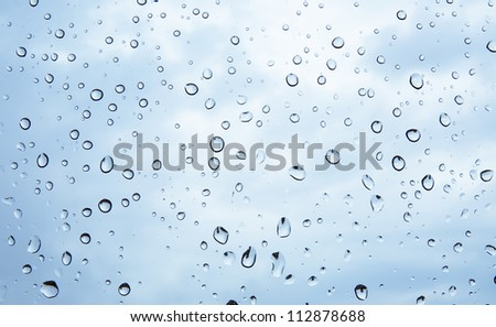 An image of raindrops on the window