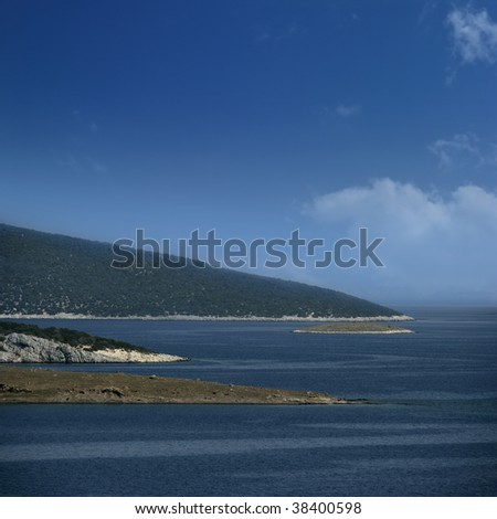 an image of several islands at aegean sea