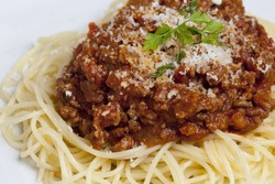 An Image of Spaghetti Meat Sauce