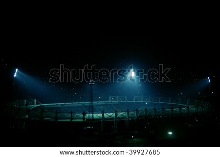 an image of stadium at night time