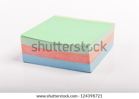 An image of sticky notes on white background