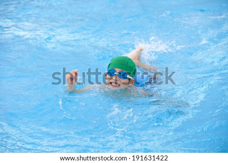An image of Swimming kid