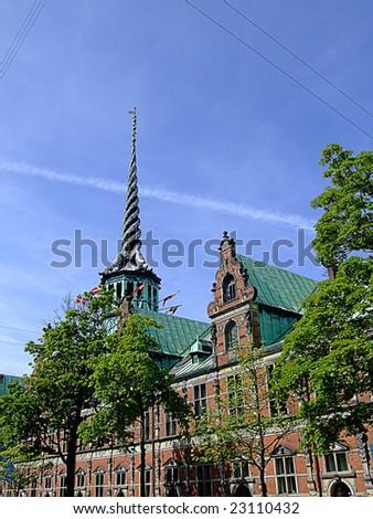 an image of the danish stock exchange in Copenhagen - stock photo