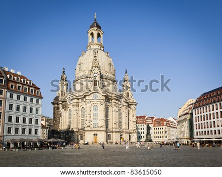 An image of the famous Frauenkirche in Dresden Germany