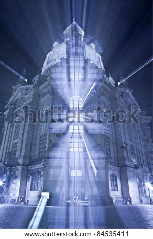 An image of the famous Frauenkirche in Dresden Germany with a zoom
