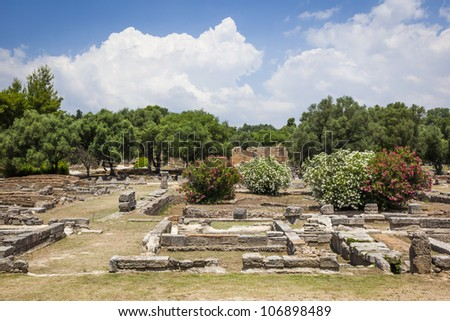 An image of the famous heritage Olympia in Greece